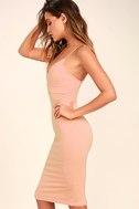 Don't Tell 'Em Blush Pink Bodycon Midi Dress 3