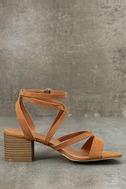 Madden Girl Leexi Chestnut Suede High Heel Sandals 4