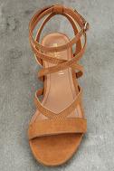 Madden Girl Leexi Chestnut Suede High Heel Sandals 5