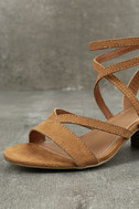 Madden Girl Leexi Chestnut Suede High Heel Sandals 6