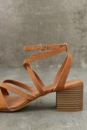 Madden Girl Leexi Chestnut Suede High Heel Sandals 7