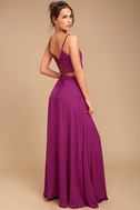 Thoughts of You Magenta Two-Piece Maxi Dress 3