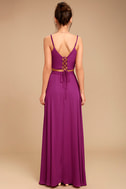 Thoughts of You Magenta Two-Piece Maxi Dress 4