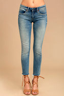 Blank NYC Intro Medium Wash Distressed Ankle Skinny Jeans 2