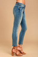 Blank NYC Intro Medium Wash Distressed Ankle Skinny Jeans 3