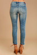 Blank NYC Intro Medium Wash Distressed Ankle Skinny Jeans 4