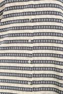 Key West Blue and Grey Striped Shirt Dress 6