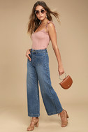 Rollas Sailor Flare Medium Wash High-Waisted Jeans 2