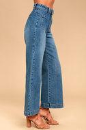 Rollas Sailor Flare Medium Wash High-Waisted Jeans 4
