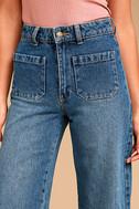 Rollas Sailor Flare Medium Wash High-Waisted Jeans 5