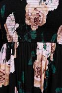 Primrose Princess Black Floral Print Off-the-Shoulder Maxi Dress 6