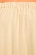 Al Fresco Evenings Beige Off-the-Shoulder Dress 6