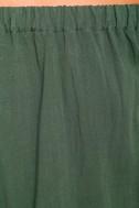 Al Fresco Evenings Olive Green Off-the-Shoulder Dress 6