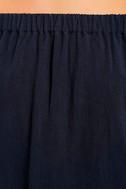 Al Fresco Evenings Navy Blue Off-the-Shoulder Dress 6