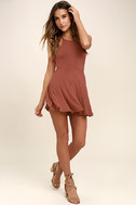 Tied Together Rusty Rose Lace-Up Dress 2