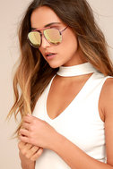 Skyward Pink Mirrored Aviator Sunglasses 1