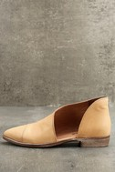 Free People Royale Natural Leather D'Orsay Pointed Toe Booties 2