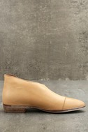 Free People Royale Natural Leather D'Orsay Pointed Toe Booties 4