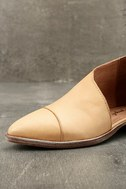 Free People Royale Natural Leather D'Orsay Pointed Toe Booties 6