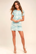 Cancun Calling Dusty Sage Print Shift Dress 2
