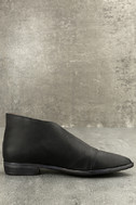 Free People Royale Black Leather D'Orsay Pointed Toe Booties 4