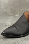 Free People Royale Black Leather D'Orsay Pointed Toe Booties 6