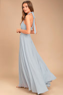 Dance of the Elements Blue Grey Maxi Dress 4