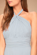 Dance of the Elements Blue Grey Maxi Dress 6