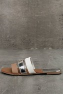Amaryllis Toffee Brown Slide Sandals 1