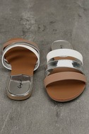Amaryllis Toffee Brown Slide Sandals 3