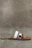 Amaryllis Toffee Brown Slide Sandals 4