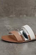 Amaryllis Toffee Brown Slide Sandals 6