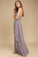 Sweetest Kiss Taupe Strapless Maxi Dress 2