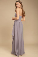 Sweetest Kiss Taupe Strapless Maxi Dress 3