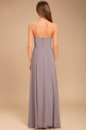Sweetest Kiss Taupe Strapless Maxi Dress 4