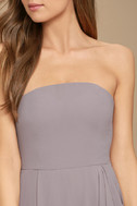 Sweetest Kiss Taupe Strapless Maxi Dress 5