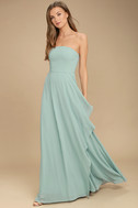 Sweetest Kiss Turquoise Strapless Maxi Dress 3