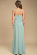 Sweetest Kiss Turquoise Strapless Maxi Dress 5