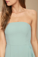 Sweetest Kiss Turquoise Strapless Maxi Dress 6