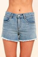 RVCA The Boyfriend Medium Wash Cutoff Denim Shorts 5