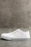 Americana White Canvas Sneakers 2