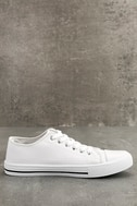 Americana White Canvas Sneakers 4
