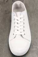 Americana White Canvas Sneakers 5