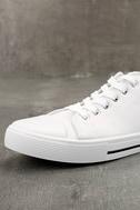 Americana White Canvas Sneakers 6