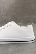Americana White Canvas Sneakers 7