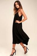 Lasting Memories Black Midi Dress 2