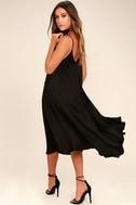 Lasting Memories Black Midi Dress 3
