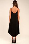 Lasting Memories Black Midi Dress 4