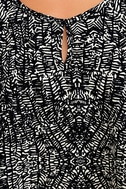Look at Me Now Black and White Print Crop Top 6