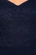 Dress to Impress Navy Blue Lace Off-the-Shoulder Maxi Dress 7